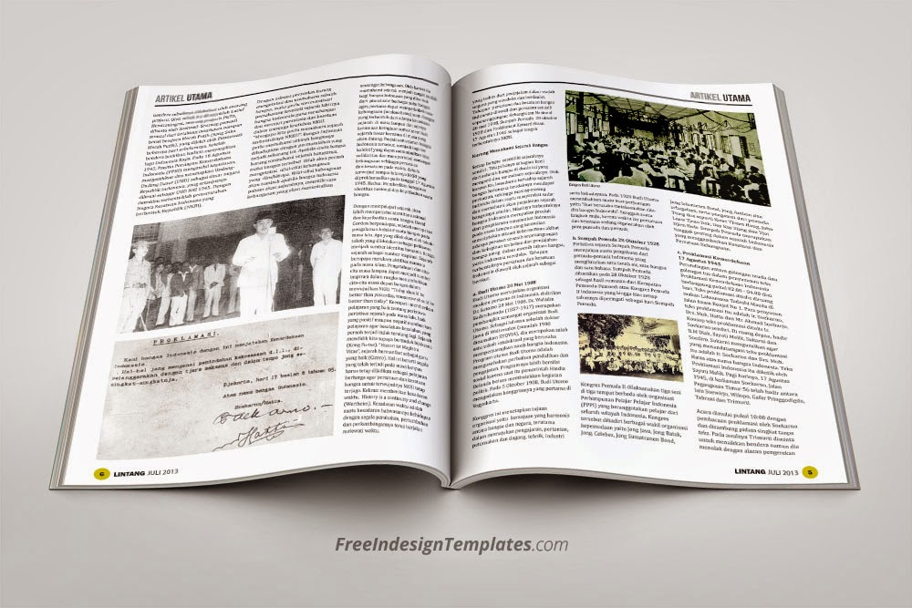 Free InDesign Simple Magazine Template #1 | Free InDesign Templates ...