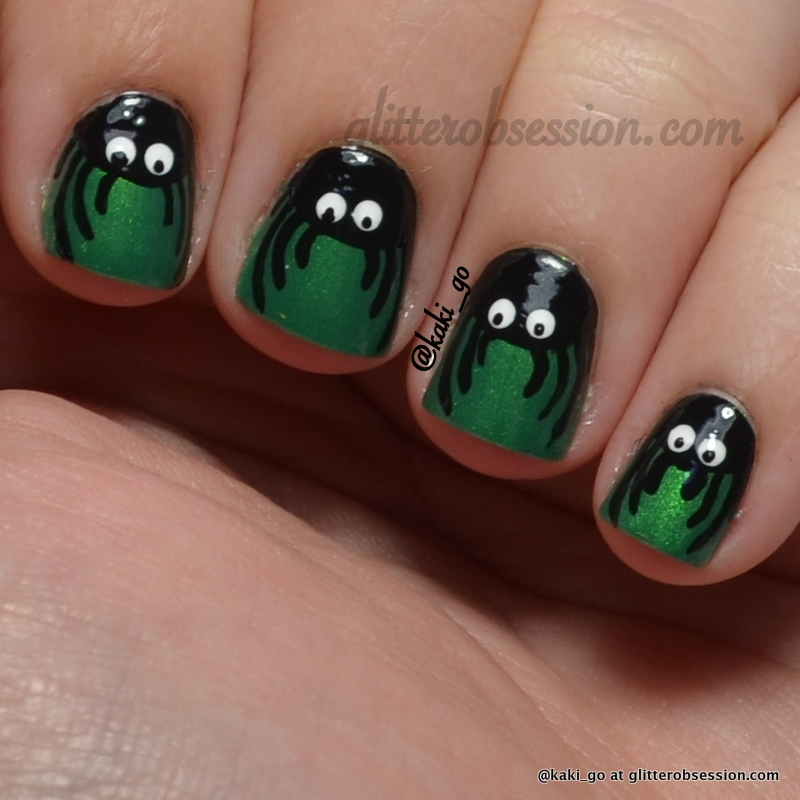 Halloween Nail Art: Spiders