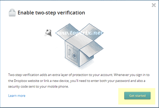 dropbox 2 step verification