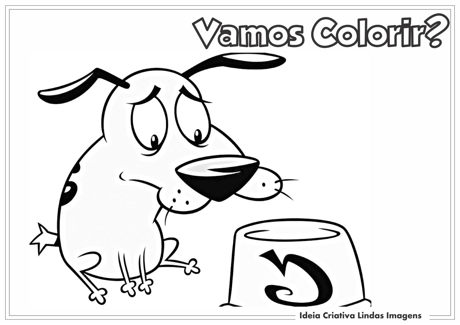 Coragem, o cão covarde desenho pra colorir