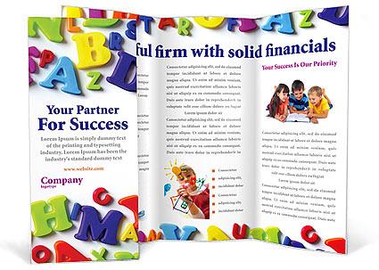 Brochure kiosk pics brochure kindergarten for Play school brochure templates
