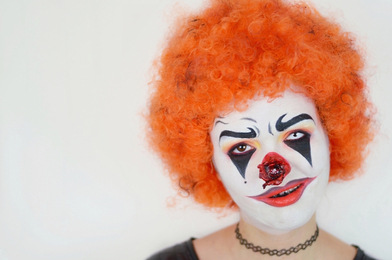 Halloween_Make_Up_Horror_Clown_selbstmachen_schminken_Vorlage_ViktoriaSarina_YouTube