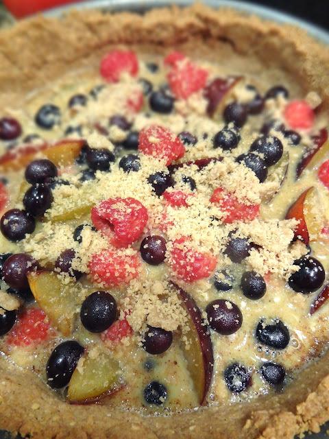 Raspberry-Cinnamon Streusel Tart Recipe — Dishmaps