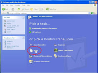 Windows XP select hardware icons or tasks
