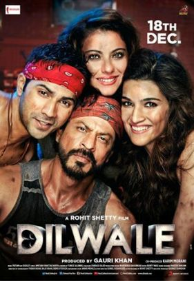Poster Of Bollywood Movie Dilwale (2015) 100MB Compressed Small Size Mobile Movie Free Download worldfree4u.com