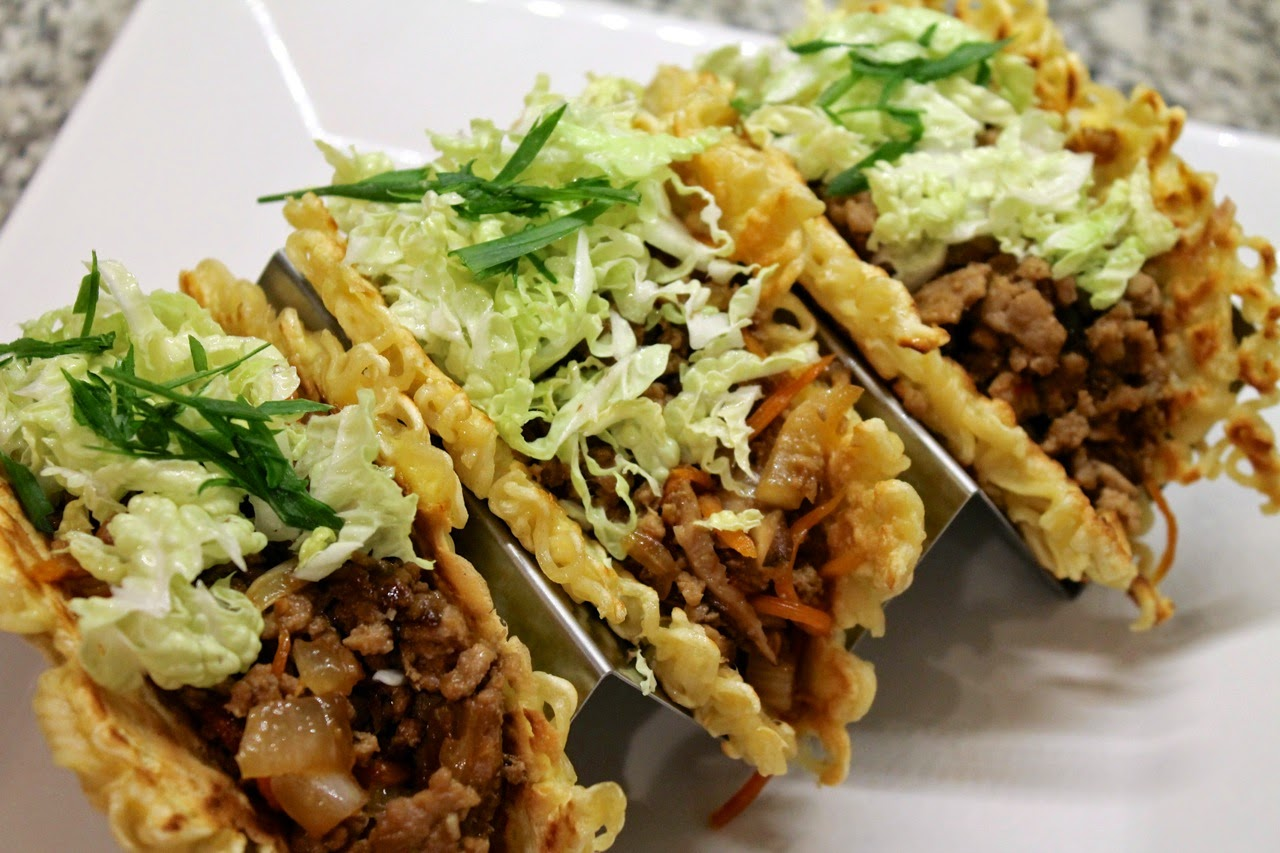 Ramen Noodle Pork Tacos