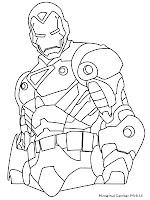 Mewarnai Gambar Iron Man Untuk Anak Laki-Laki