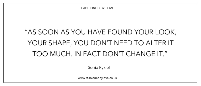 via fashioned by love | best fashion & style quotes | Sonia Rykiel
