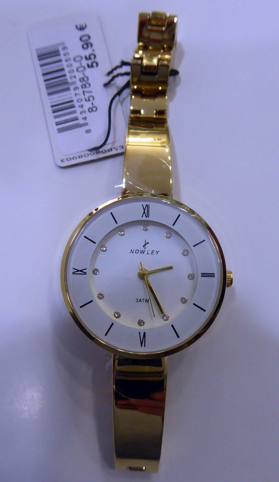 Reloj Nowley señora acero dorado