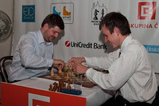 Echecs à Prague : Svidler 2.5-0.5 Navara - Photo © site officiel