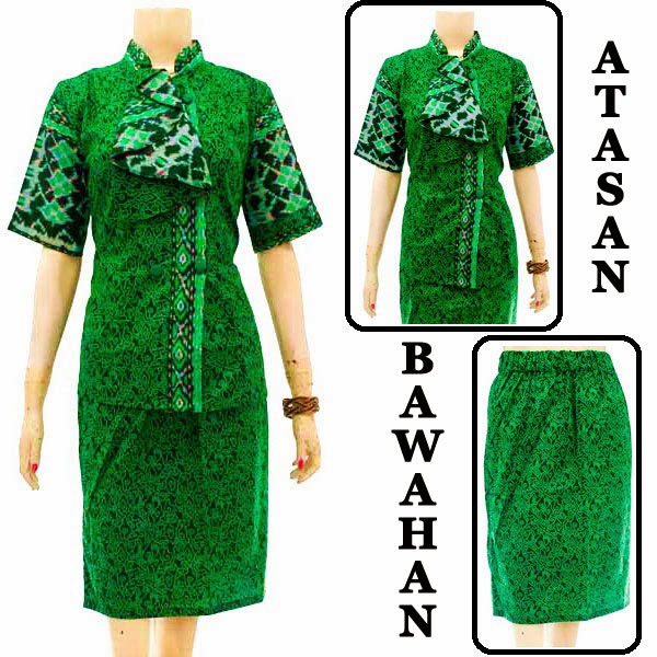 DB3734 Model Baju Dress Batik Modern Terbaru 2014