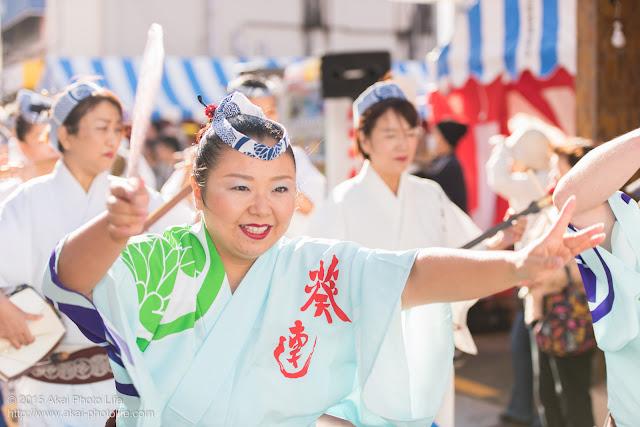 東京葵連 清瀬駅南口・秋のふれあい祭り 阿波おどり