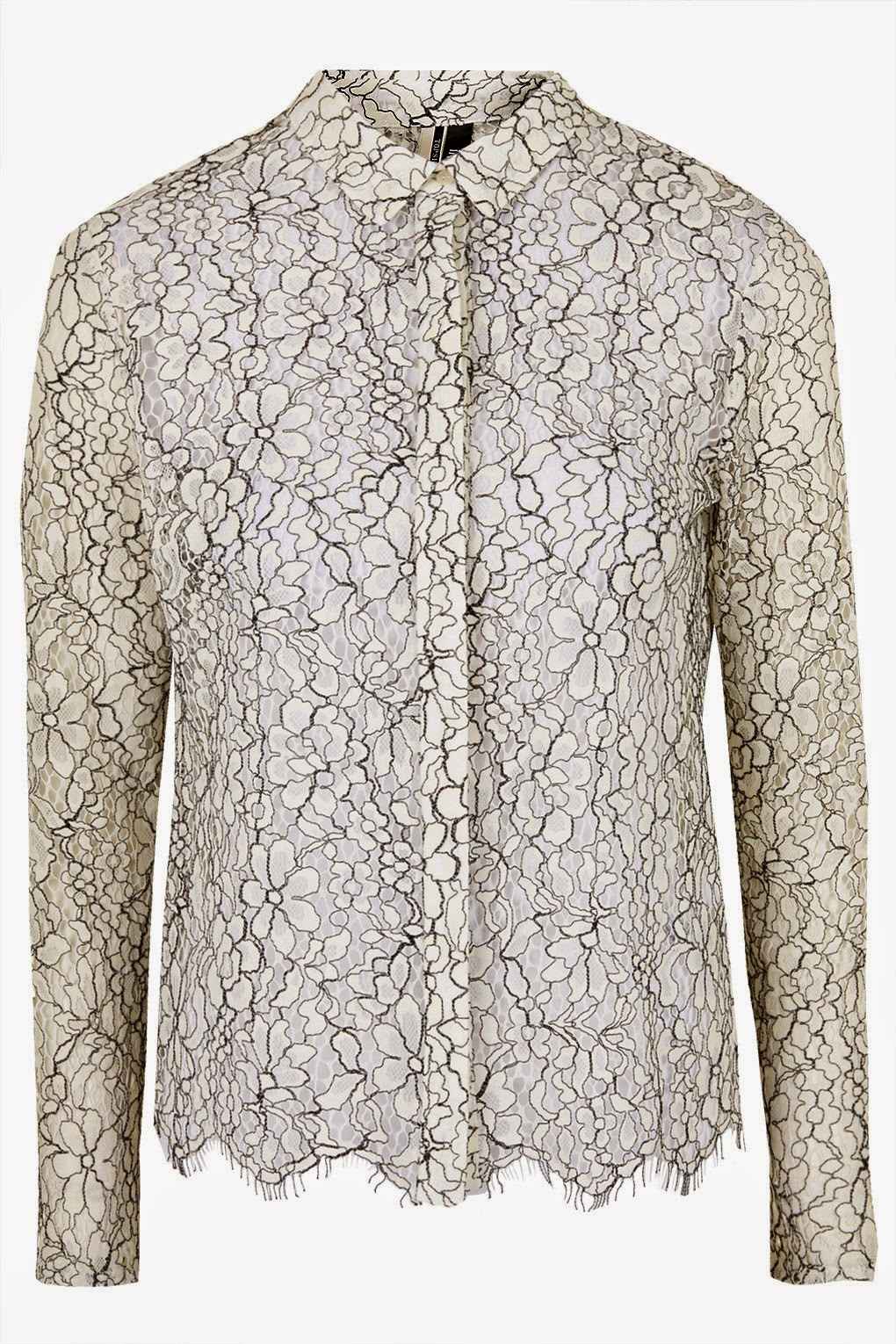 topshop lace blouse