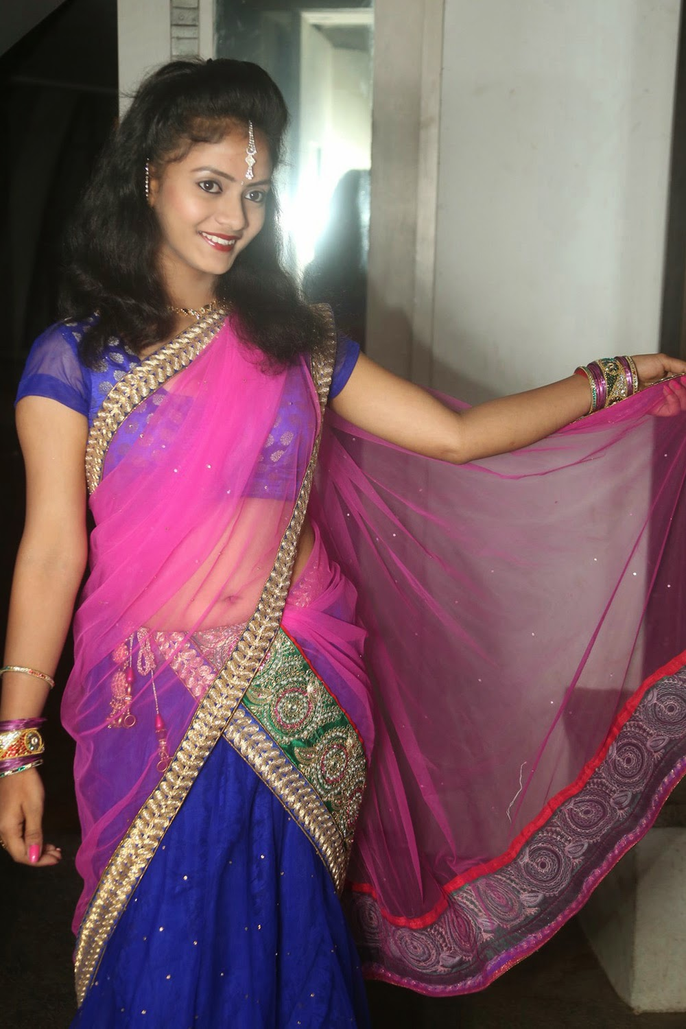 Young actress Jaya Harika in half saree-HQ-Photo-18