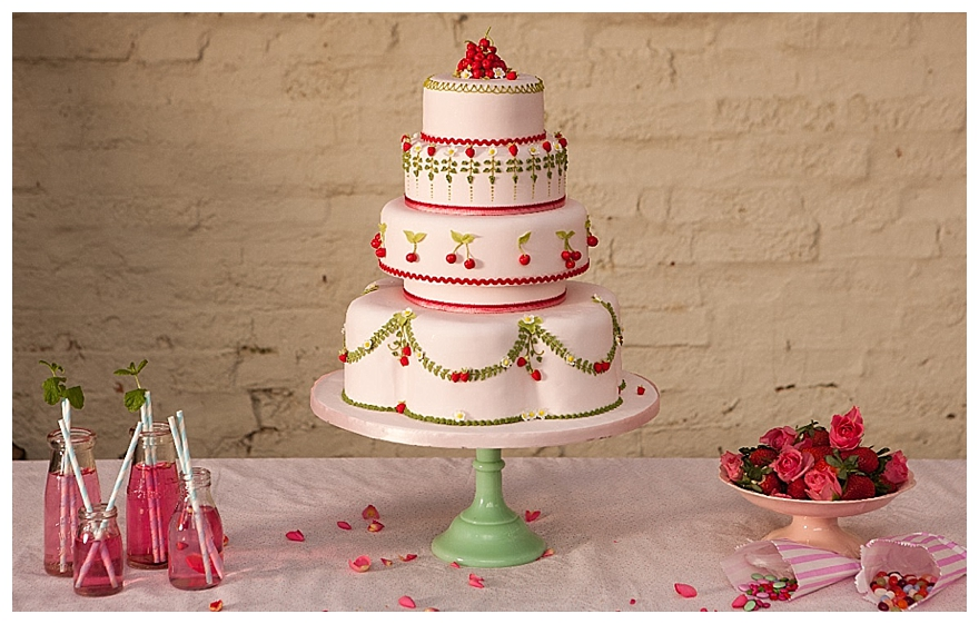 Waitrose Polka Dot Wedding Cake