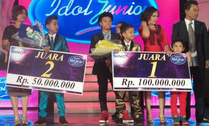 Jojo akhirnya terpilih menjadi juara pertama di ajang Indonesian Idol Junior
