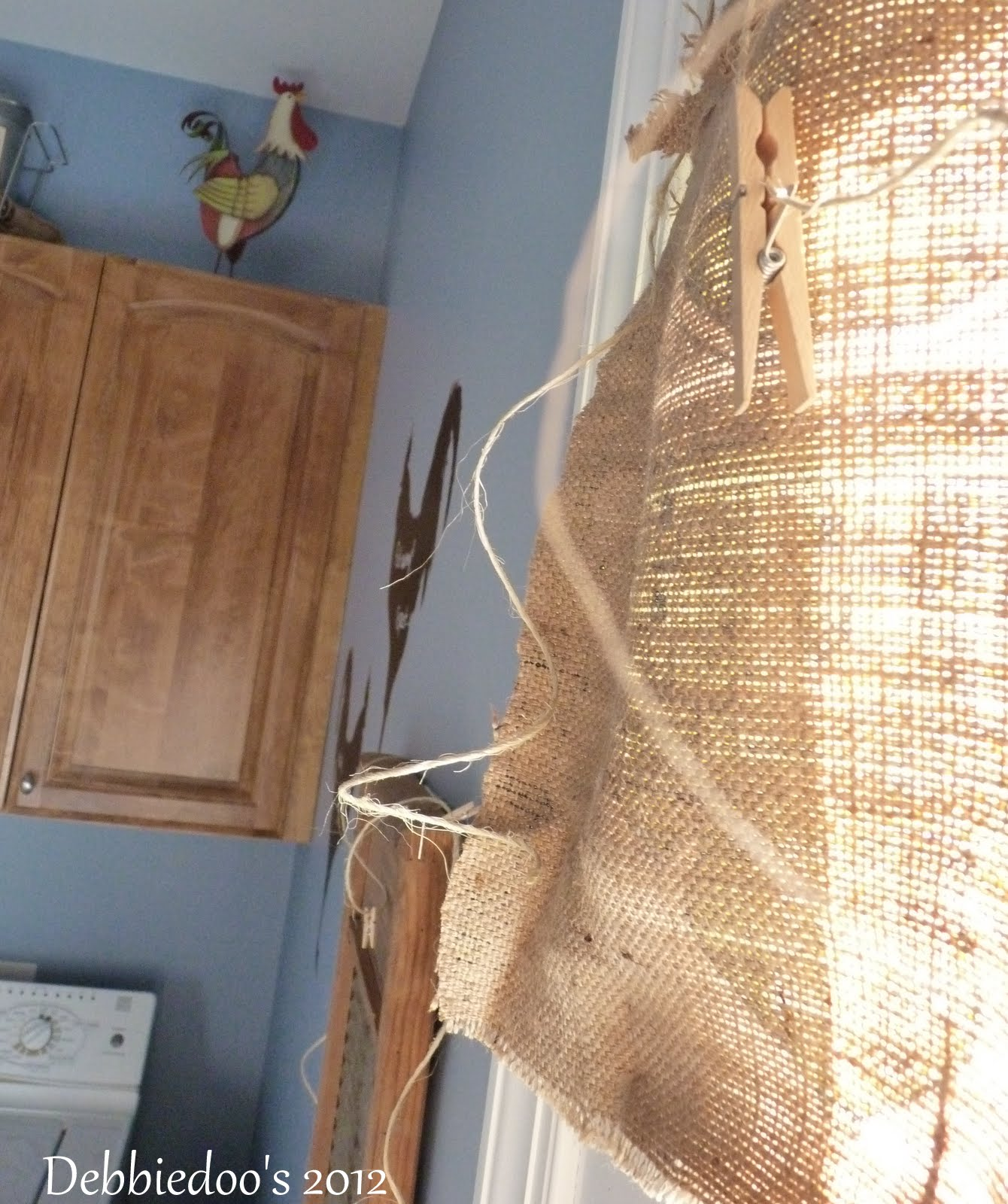 burlap diy curtains debbiedoos