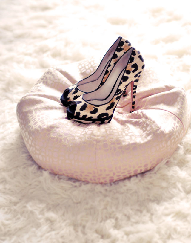 peep toe platform leopard print heels, casadei
