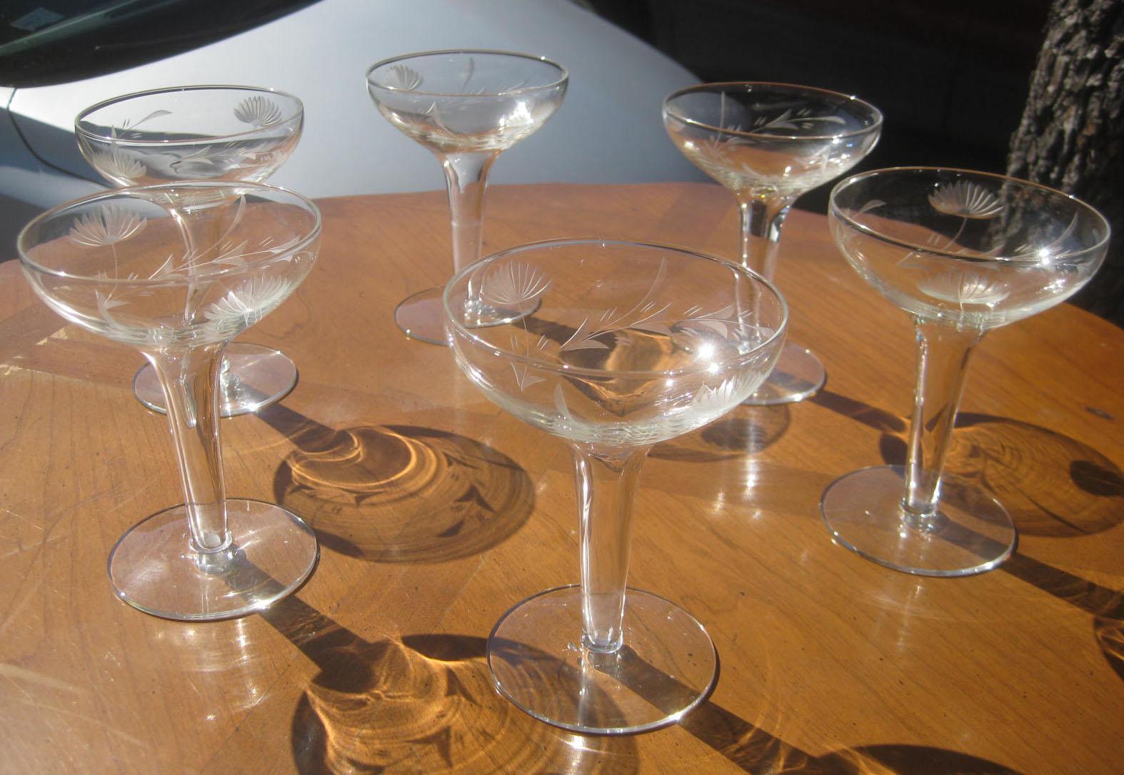 Uhuru furniture collectibles sold vintage hollow stem champagne glasses 20 - Champagne flutes hollow stem ...