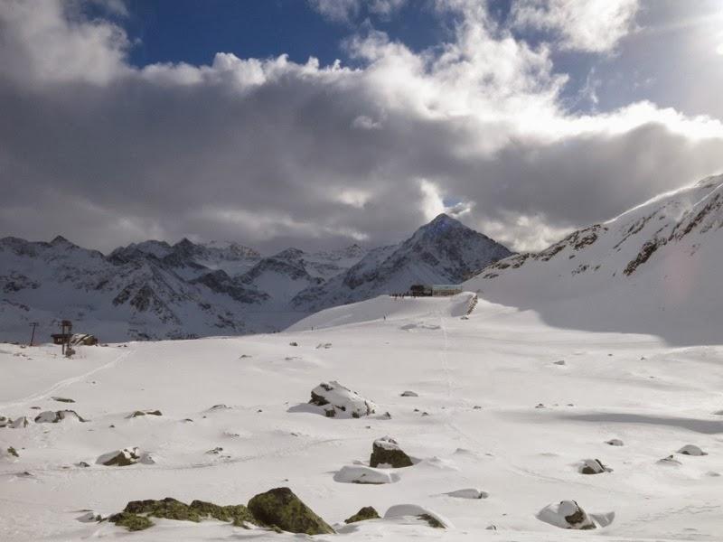 Kurz vor dem Skigebiet wurde es wieder angenehmer.