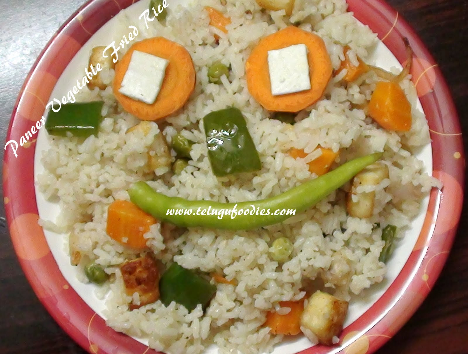 Paneer vegetable fried rice homemade telugu recipes im sending this recipe to healthy lunch box ideas event hosted by kalyani jayashree ccuart Gallery