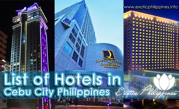 List of Hotels in Cebu City Philippines
