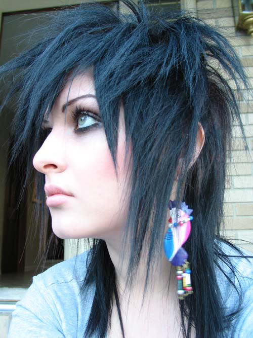 gothic hairstyles for girls. Gothic Long hairstyles