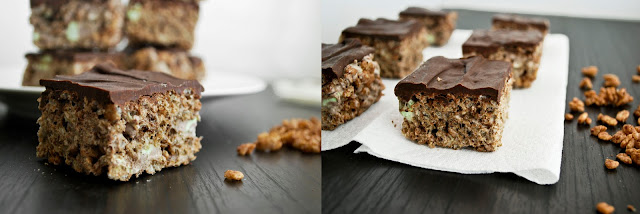 Thin Mint Rice Krispy Treats