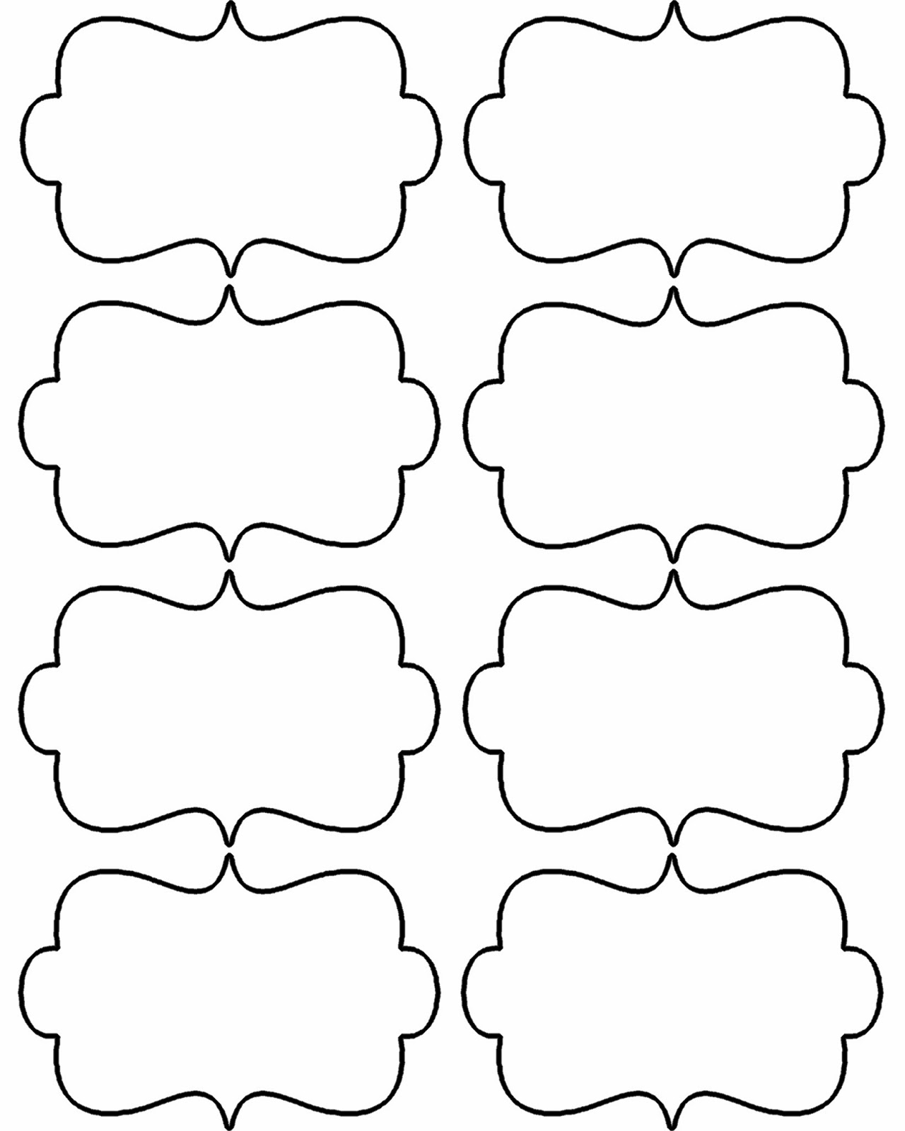 free blank printable labels