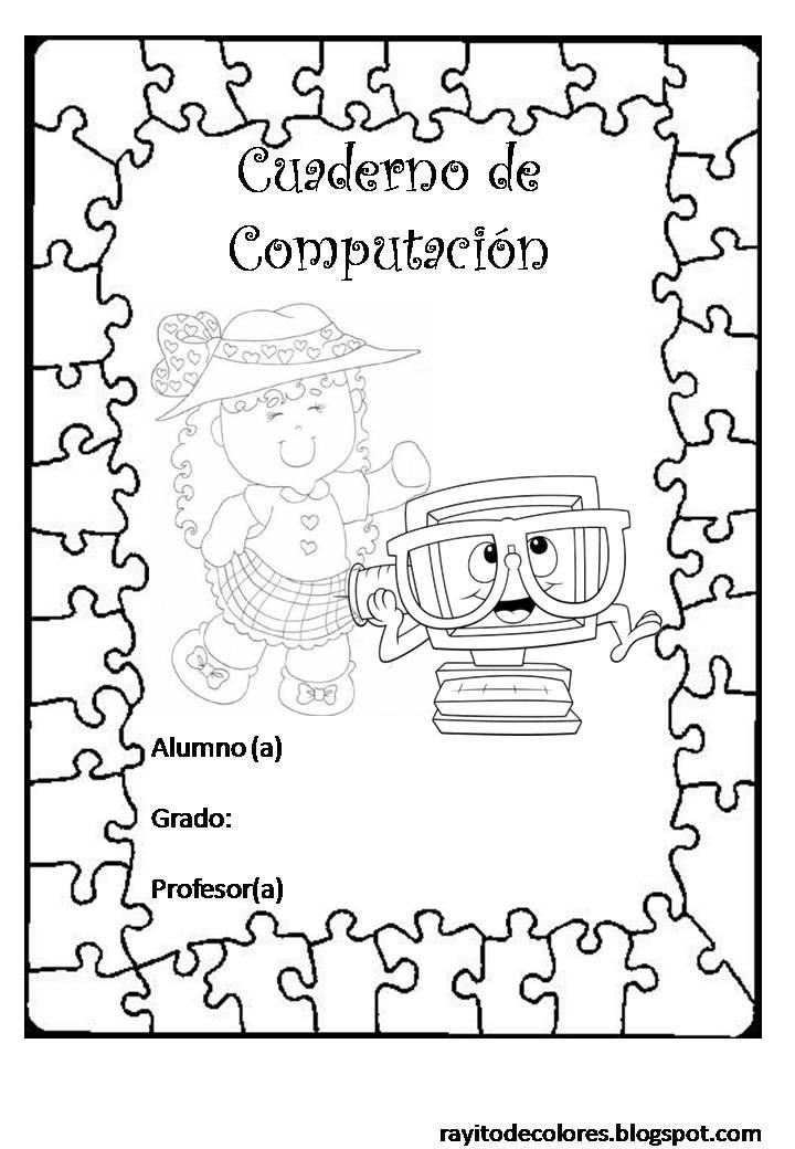 Carátulas escolares Fofuchas | Rayito de Colores