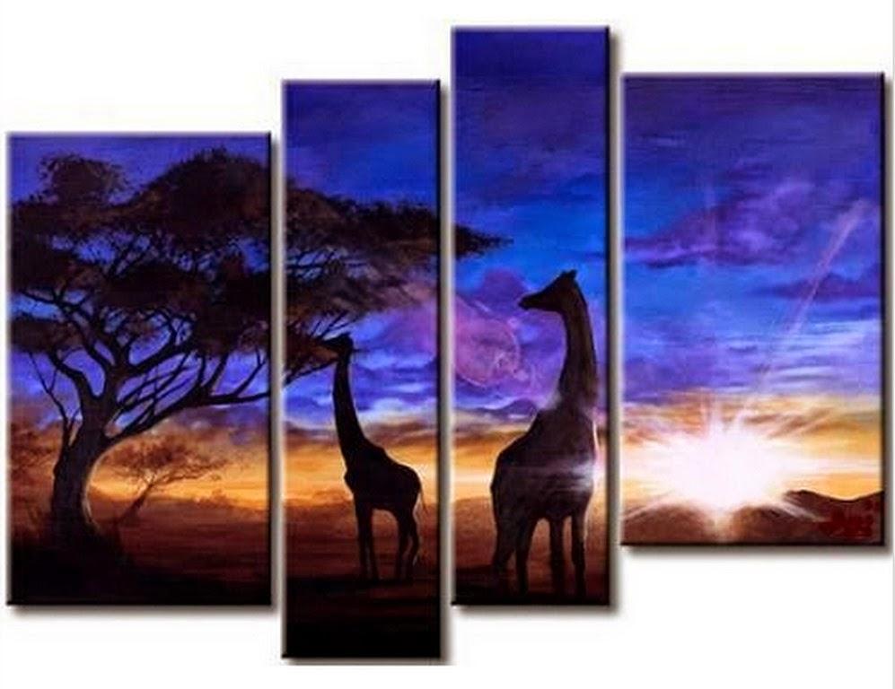 tripticos-al-oleo-de-paisajes-africanos