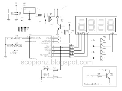 Programmable Digital SSD Timer Circuit - PIC16F628A