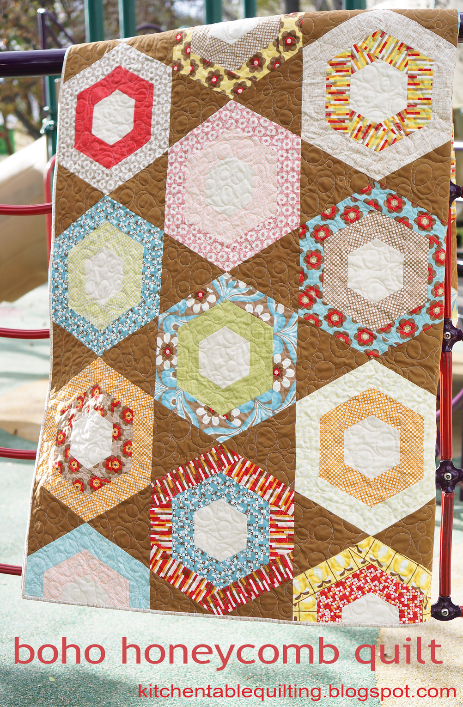 Boho honeycomb quilt 171 moda bake shop