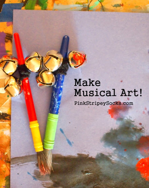 make musical art, add bells to paint brushes and hear sounds while you paint