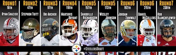 steelers 2014 draft class shazier tuitt archer bryant richardson
