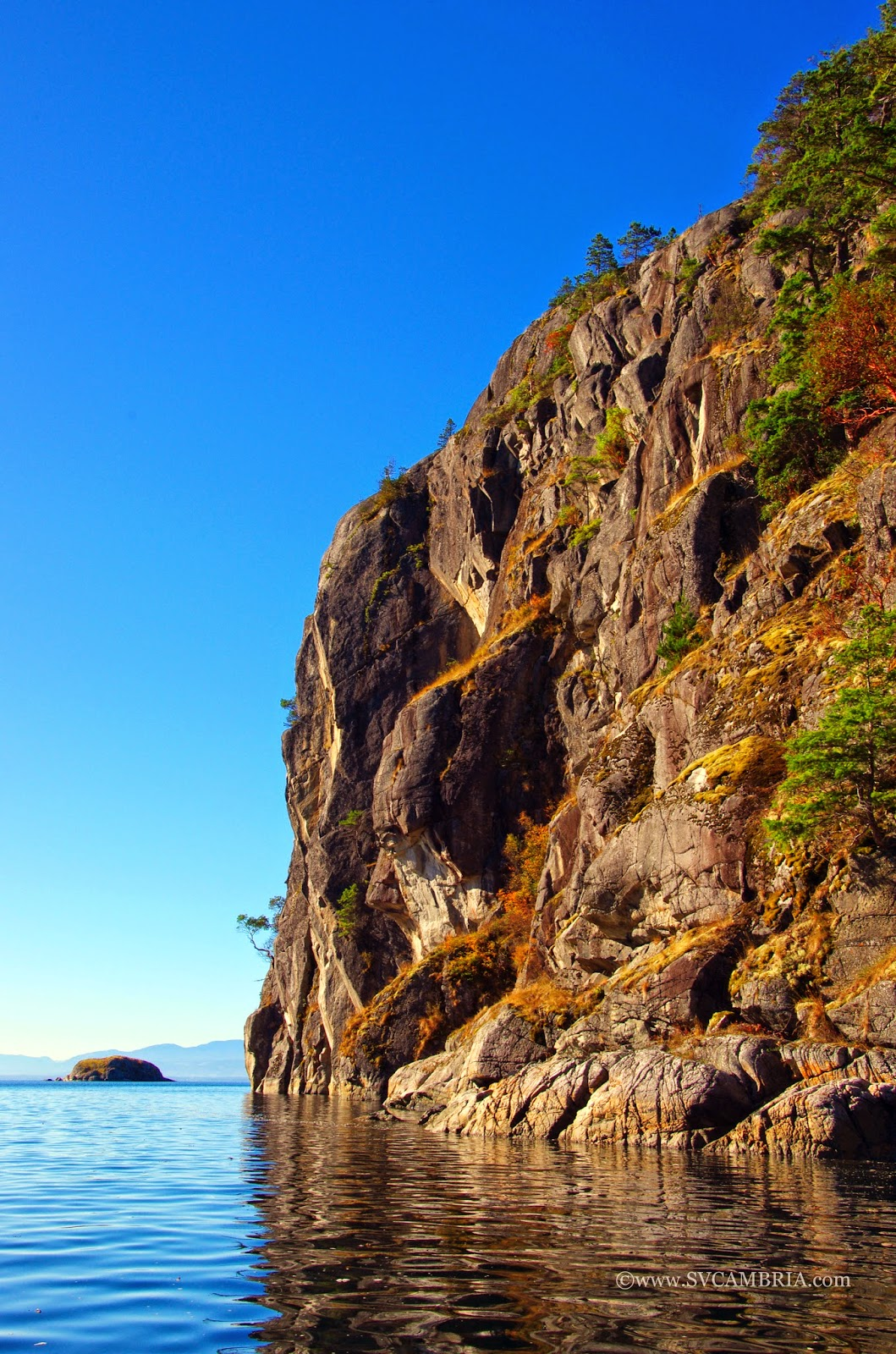 The entrance to Gorge Harbour, Cortes Island.