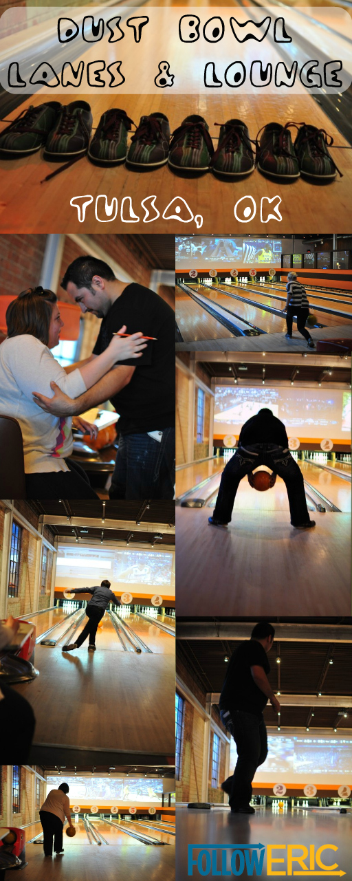 Collage of photos of Dust Bowl Lanes and Lounge in Tulsa, Oklahoma by Jess ReNae Photography
