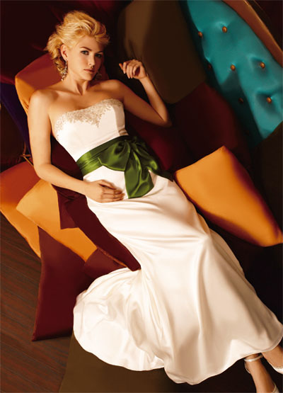 Saunter down the aisle in a wedding dress that not only looks fabulous on