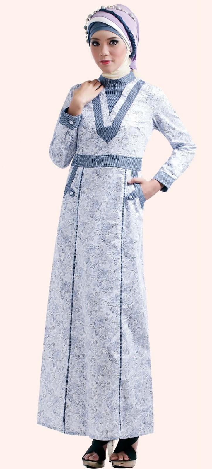 Baju gamis muslimah nan anggun tutorial hijab Baju gamis vamosh