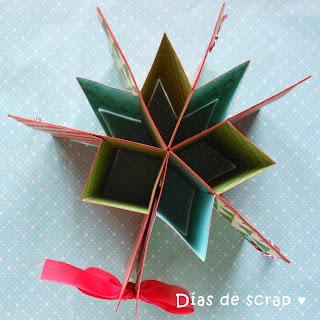 scrap mini album estrella navidad