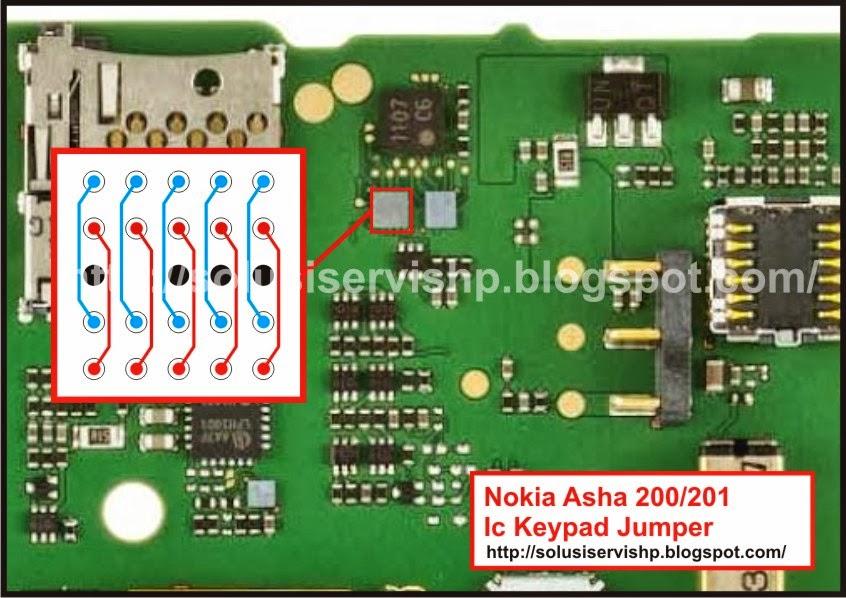 Nokia Asha 200 - 201 Jumper IC Keypad