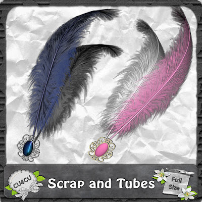 Elegant Feathers (CU4CU) .Elegant+Feathers_Preview_Scrap+and+Tubes