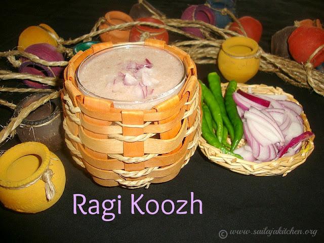 Images for Aadi Koozh Recipe / Ragi Ambali / Kezhvaragu Koozh / Ragi Koozh / Keppai koozh / Finger Millet Porridge