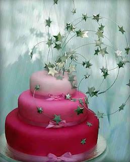 torta nuziale stelle cadenti