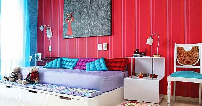 Camas con cojines decoracion de - Cojines para dormitorios juveniles ...