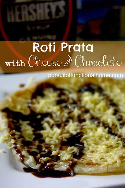 Dessert Recipe: Roti Prata with Cheese and Chocolate