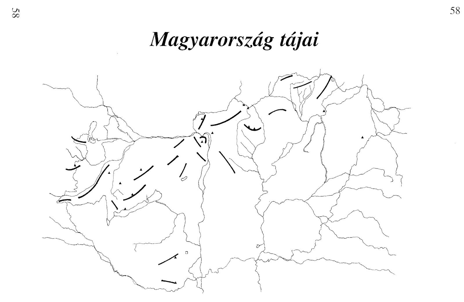 Röghegységek jelölése a térképen