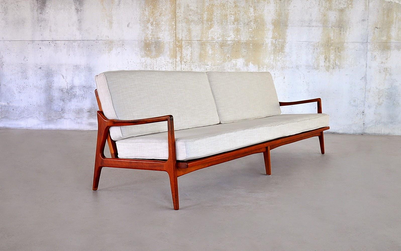Delicieux Danish Modern Teak 4 Seater Sofa