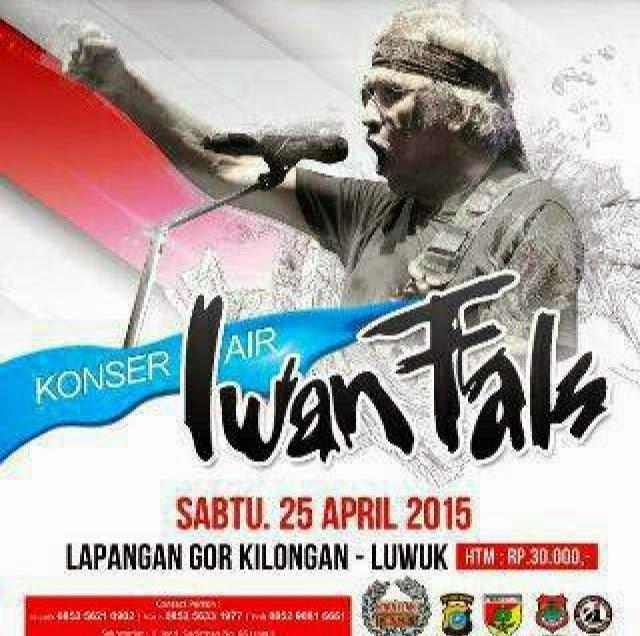 Konser Air Iwan Fals Sulawesi Tengah