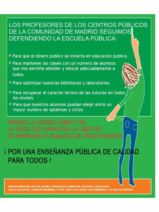 Movilizaciones en madrid el anuncio de alcobendas y san for Trabajo en alcobendas y san sebastian de los reyes